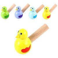 Desenho colorido apito novo banho brinquedo madeira pássaro pássaro breaktime brinquedo musical garoto cedo instrumento educacional crianças presente