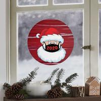 21 * 21см Прекрасные рождественские наклейки Творческий мультфильм раунд шоу оконного стекла наклейки Xmas Санта Клаус Атмосфера наклейки VT1760