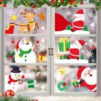 عيد الميلاد نافذة ملصقات سانتا كلوز زجاج الأبواب الحمام pvc ملصقات السنة الجديدة الشارات ديكور ديكور هدية DDA729