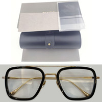 Мужской 2021 умный мужской железо Тони Старк прозрачный синий светлый прозрачный ацетат очки женщин компьютерные очки кадры ретро блокирующие очки мужчины