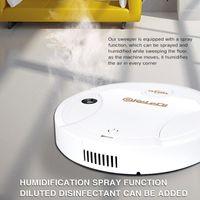 3 EM 1 Scrubber robô aspirador de pó inteligente robô Nano spray Desinfecção Varrer Aspiração Mop Robotic Vacuum Cleaner Para Casa New1