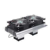 노트북 냉각 패드 12V 열전기 냉동 시스템 키트 쿨러 더블 팬