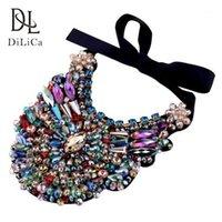 Chokers Dilica Wunderschöne Frauen Halskette Handgemachte Strass Kristall Charme Choker Halsketten Weibliche BIB-Anweisung KOLYE COLAR1