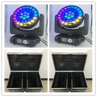 4pcs with fly case 37x12w led big bee eye 4 in 1 moving head beam wash zoom lights RGBW moving head led dj lighting