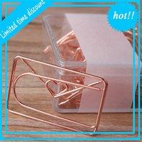 20pcs Office Paper Clip Love Bowknot Placant Spécial DIY Modeling Cadeau Signet Easy Utilisation Mini Accessoires d'école Étude