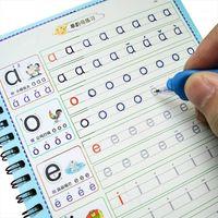 English Lettre Chinese Pinyin Mots Numéros Dessin Preschool Apprendre à écrire la magie d'écriture Coller Enfants Coolbook Pratique 1set1