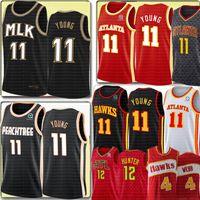 새로운 Trae 11 젊은 De'andre 12 Hunter Jersey Retro Spud 4 WebB 21 농구 유니폼 자수 로고