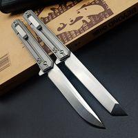 Yeni Keskin Rulman Katlama Bıçak D2 Blade Titanyum alaşımlı kolu Flipper Kamp Açık Pocket Knife Survival Av Bıçakları EDC Aracı