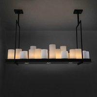 led 촛불 샹들리에 케빈 레이 빌리 제단 현대 펜 던 트 램프 케빈 라이 딜 조명 혁신적인 촛불 및 금속 전등