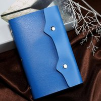 Card Holders Mini Business Solid Color 108 Slots With Hasp PU Leather Fashion Storage Travel Gifts Portable Bag
