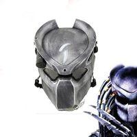 Alien vs Raubtier Einsamer Wolf mit Lampe Outdoor WarGame Taktische volle Gesicht CS Halloween Party Cosplay Horror Maske Y200103