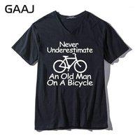 """GAAJ """"Bir bisiklet üzerinde yaşlı bir adam asla küçümseme"""" erkek kadın unisex t gömlek tişört v boyun gömlek moda giyim1"""