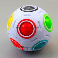 Rainbow Ball Fidget Toy Cubes Magic Puzzles Balls Stresses Relief Brain Teasers Games Toys for Kids Pack Adults