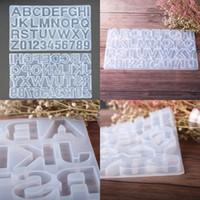 펜던트 형 키 체인 가젯 10yx의 G2 주조 DIY 실리콘 금형 번호 26 편지 투명 형 미러 표면 쥬얼리