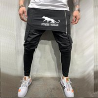 Pants Men Pantalon Homme Streetwear Jogger Fitness Bodybuild...
