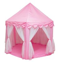 Portable Pieghevole Princess Castle Play Tent Bambini Fairy House Funny Indoor Outdoor Playhouse Beach Toys XR-Hot