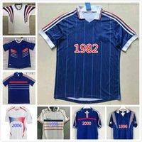 1982 1996 2000 2010 1998 2006 Francescoli Retro Camiseta de Fútbol Jersey 2004 Trézéguet Zidane Henry Maillot de pie Ribery Djorkaeff Shirt