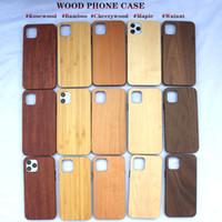 Подлинные деревянные чехлы для телефона для IPONE 12 11 PRO MAX X XR XS 7 8PLUS природа деревянный бамбуковый чехол с мягким ТПУ