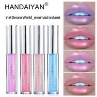 Handaiyan 6cors Glow Glitter Shimmer Mermaid Lipgloss 립 틴트 보습 방수 금속 오래 지속되는 액체 립글로스 립 밤