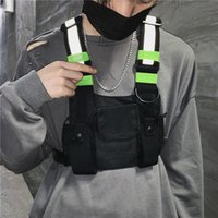 Moda Chest Rig Bag Camouflage Tactical Vest Harness Anteriore pacchetto Pouch Holster Vest Rig Hip Hop Streetwear funzionale Petto Bag