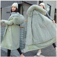 Женские Parkas Winter женщины 2021 сгущает теплые мягкие куртки пальто женские твердые туалеты снежная куртка от -10 до -30C носить S-3XL R8371