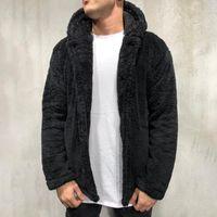 Giacche da uomo Felpe soffici Felpe con cappuccio Furry Giacca Furry Furx Maglione Fashion Casual Zipper Spesso con cappuccio Jacke con cappuccio