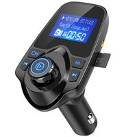 T11 اللاسلكية بلوتوث FM الارسال يدوي سيارة كيت mp3 مشغل موسيقى محول بلوتوث لاسلكية مع طقم سيارة منفذ USB المزدوج