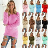 Женщины Негабаритные Толстовки с длинным рукавом Дамы Теплый свитер Пуловер Джимпер Топы
