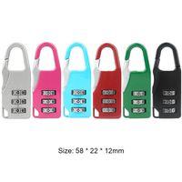 3 Mini Dial Difit Lock Numer Kod Password Comblock Security Travel Bezpieczne zamek do kłódki Blokada bagażu Darmowa DHL