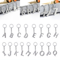 Fashion Lady strass argent plaqué Keyring Alphabet Inlay Charms Keychain mignon Porte-monnaie Porte-voiture Longe clé Boucle 2 4zj G2