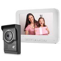 7-дюймовый домашний домофон видео дверные доски монитор 700TVL ночное видение водонепроницаемая дверная звонка камера контроль доступа Unlock1