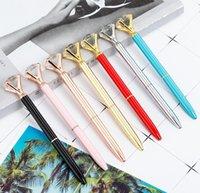 Luxo Metal Crystal Diamante Caneta 8 Cores Polka Dot Ball Pens Moda 19 Carat Grande Diamante Ballpoint Pens Jlldko Fight2010