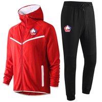 2020 2021 Lille OSC futbol Hoodie Kazak Eşofman kış mens casual spor kapüşonlu antrenman spor takım elbise Ceket Koşu Setleri