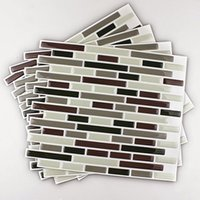 Pegatinas de pared 4pcs Decoración para el hogar 3D Modelo de azulejo Cocina Backsplash Mural Decals1