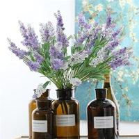 Seda Artificial Lavanda Flores Real Toque Guirnalda Flower Flowake Para Boda Valentines Día Regalo Decoración para el hogar Accesorio 10 Cabezas WQ595