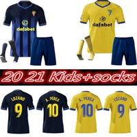 2020 2021 Cádiz Soccer Jerseys Cádiz CF 20 21 Lozano Alex Bodiger Juan Cala Camiseta Ascenso A Liga Camisetas de Fútbol Kit Kit