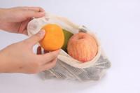 Dozzesy Mesh réutilisable Produits Sacs Bio Coton Market Végétières Sac à provisions Maison Cuisine Épicerie StorageBag