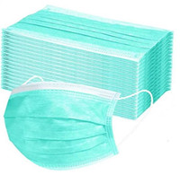 Layer 3 Mask Disposable Protective Face Masks with Nose Clip...