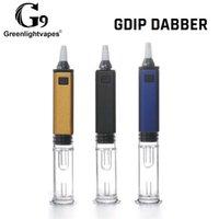 Authentique G9 GreenlightVapes GDIP Dabber portable mini DAB RIB 1000MAH Enail Straw de collecteur avec tuyau d'eau du barboteur en verre