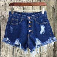 Kkillero Vintage Roading Hole Bringe 6 Цвет Джинсовые Женщины Повседневная Карманные джинсы Летняя Девушка Горячие Шорты SL086 Y200822