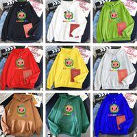 XS-4XL Unisex Cocomelon Hoodie Cartoon Plüsch Fleece Pullover Sport Lässige Kapuzenpullover Designer Tops Mantel Warme Jacke Kleidung LY10292