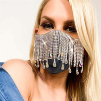 Black Urieo Mesh Sparkly Rhinestones Bling Crystal Face Mask...