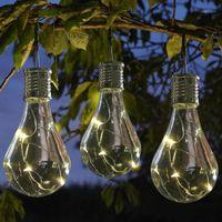 Gadgets Carprie Su Geçirmez Güneş Dönebilen Güzel Açık Bahçe Kamp Asılı LED Işık Lambası Ampul Ev Dekorasyonu 20July071