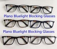 Nova Qualidade Concisa Retangular Unisex Óculos Quadro Plano Bluelight Bloqueio de Óculos 54-17-140 Plaid Plance para Prescrição Fullset Case