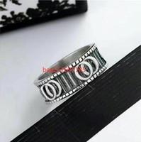 2020 Nuovi anelli da uomo ad anello di alta qualità larghezza della larghezza di modo di marca vintage anello vintage incisione coppie anello gioielli da sposa regalo amore anelli bague con scatola