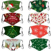 Дизайнерские моды рождественские дети для взрослых маски для лица рождественские маски для лица анти пыль снежинка крышка рот моющийся многоразовый с фильтром кармана