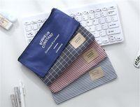 Máscara bolsa de almacenamiento a prueba de polvo recipiente 4 estilos lino Convas Caja de lápiz el bolso cosmético de las mujeres del bolso del organizador