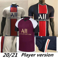 20/21 Versione da home player # 7 MBAPE Soccer Jersey 2020 Turno Away White # 10 Camicia da calcio Verratti Uniformi di calcio