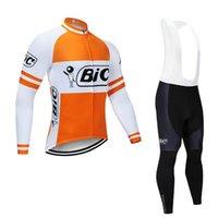 BIC Team Mens Cycling Maniche lunghe in maniche lunghe Jersey (Bib) Pantaloni Set MTB Bici Abbigliamento Bicycle Outfits Sport Uniform S122228