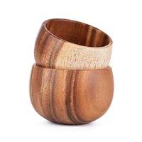 단단한 나무 그릇 미끄럼 방지 / 열 절연체 / 따뜻한 나무 공예 나무 식당 식기 14hgl